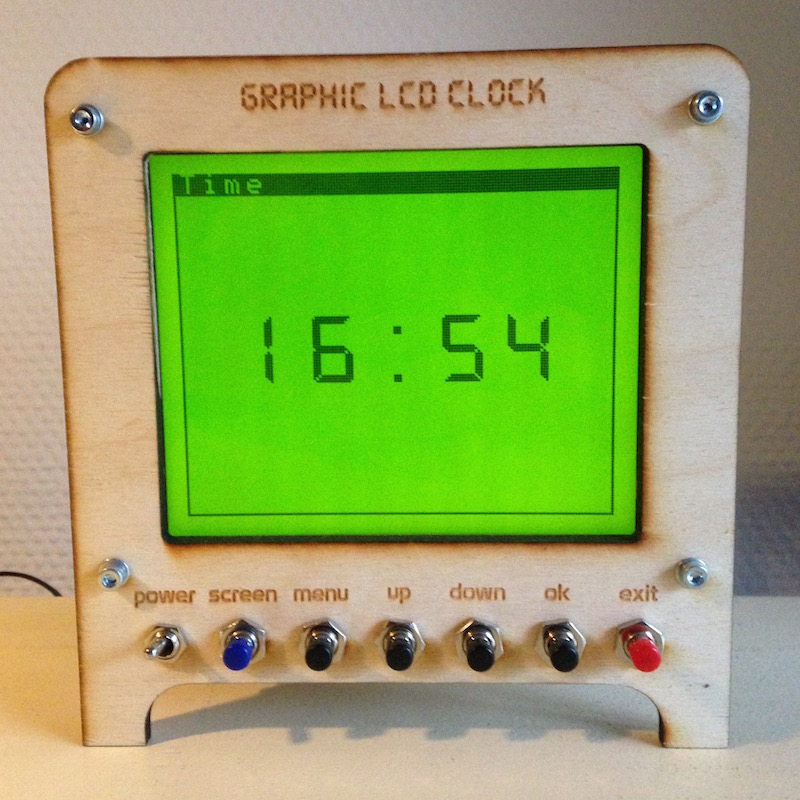 Graphic LCD Clock
